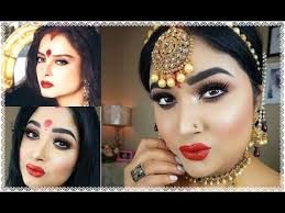bollywood actress rekha inspired full face makeup tutorial