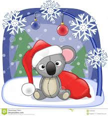 Christmas Koala Clipart - ClipartXtras