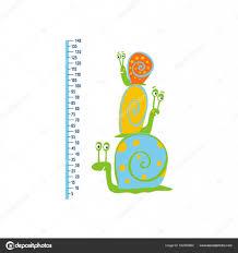 Cute Growth Chart Cute Growth Chart For Kids Stock Vector Webmuza 162952860