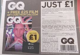 voucher in today s free metro newspaper allows you to gq may edition magazine in paring whsmith m s sainsburys and waitrose for 1