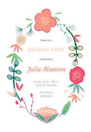 Spring Flowers Birthday Invitation Template Free Free