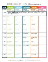 Daily Homeschool Schedule Template Kindergarten Daily Schedule Confessions Of A Homeschooler