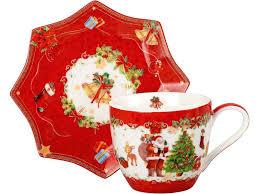 Чайная пара Санта Клаус оптом (491097)