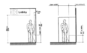 standard toilet dimensions clearance. fabulous lobby clear width handicap bathroom dimensions standard toilet clearance