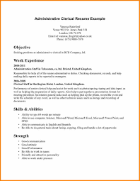 7 Clerical Resume Template Top Resume Templates