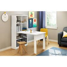 home office work table. South Shore Annexe 2-in-1 Piece Pure White Office Suite Home Work Table E