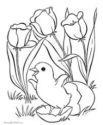 Easter Coloring Pages Of Flowers