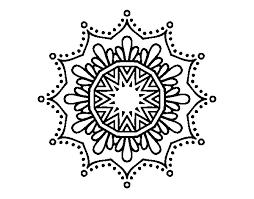 Disegno Di Mandala Fiore De Neve Da Colorare Acolorecom