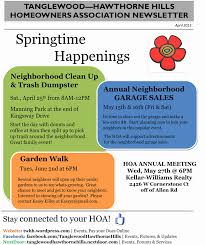Homeowners Association Newsletter Template Fresh Hoa Dues Invoice