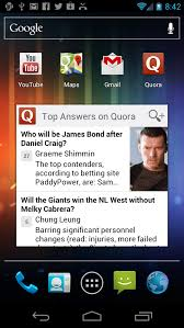 How to install Quora s wid on the home screen of my Android