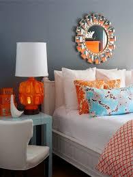 gray and orange bedroom. orange, turquoise and grey gray orange bedroom