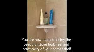 how to install attach a shower corner shelf on a tile wall diy you