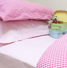 baby nursery adorable gingham duvet sets three colours available babyface pink cover double set single