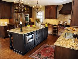 kitchen decorating design ideas using rustic solid wood kitchen flooring including dark brown wrought