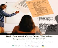 Basic Resume And Cover Letter Workshop Economic Development Division