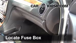 interior fuse box location 2008 2012 buick enclave 2008 buick locate interior fuse box and remove cover
