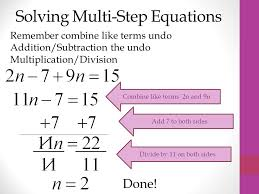 multi step how to solve
