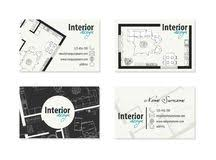 business cards interior design. Business Card For Interior Designer, Decorator Royalty Free Stock Image Cards Design
