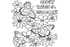 Feel Better Coloring Pages More Images Of Within Get Well Soon Blank
