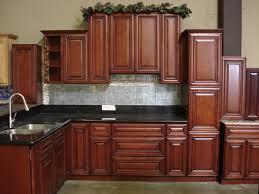 image of kitchen color schemes with cherry cabinets