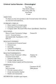 Sample Criminal Justice Resumes Sample Criminal Justice Resume Professional Criminal Justice Resume