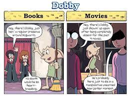 harry potter s vs books