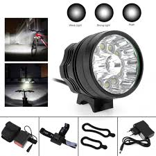 Headlamp Bicycle Light Us 44 46 33 Off 13 X Xm L T6 Led Bicycle Lamp Headlamp Bike Light Headlight Cycling Torch 12000lm With 8 4v 6400mah Battery In Bicycle Light From