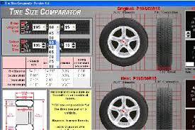 Tire Size Chart Comparison Tire Size Comparator 4 2 Download Free Tiresize Exe