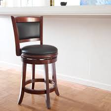 brown wooden 24 inch counter stools with black seat and back for home  furniture ideas