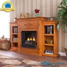 bookcase tv stand beautiful tennyson plantation oak gel fireplace w bookcases media tv stand