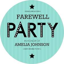 Free Going Away Party Invitations Turquoise Stripe Farewell Party Invite Going Away Party