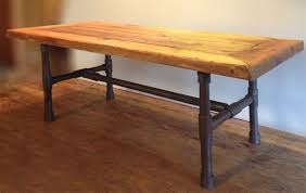 Industrial Pipe Coffee Table Buy A Handmade Reclaimed Wood Pipe Leg Coffee Table Made To Order
