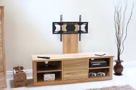 baumhaus mobel oak 2 drawer tv cabinet widescreen stand with adjustable bracket baumhaus mobel oak drawer