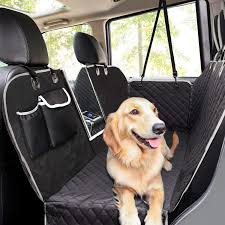 pecute dog car seat cover 100 waterproof rear seat covers for dogs with viewing window side flaps storage bags dog car hammock scratch proof nonslip back