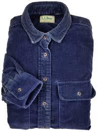 l l bean corduroy shirt medium mens long sleeve on down navy men size sz m