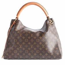 louis vuitton used bags. image is loading louis-vuitton-authentic-canvas-artsy-brown-shoulder-bag- louis vuitton used bags