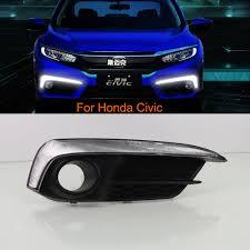 2016 Honda Civic Fog Light Assembly Car Drl Led Daytime Running Lights Kit For Honda Civic 2016