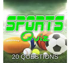 20 question sports quiz