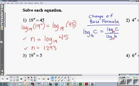 worksheet exponential equations not requiring logarithms exponential equations requiring logarithms you logarithms