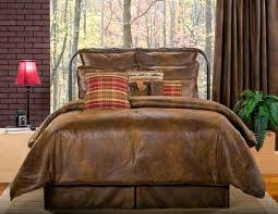full size of cabin comforter sets queen rustic bedding set full brown faux leather western lodge