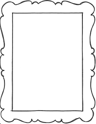 Paper Picture Frame Templates Add A Few Frame Outlines To The Art Notebook Party Favors From My