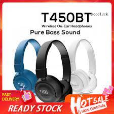 Tai Nghe Chụp Tai Thể Thao Jbl T450Bt Kết Nối Bluetooth 4.0 Hifi - Tai nghe  có dây chụp tai (On-Ear)