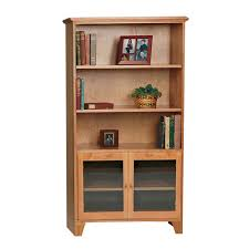 office bookcase with doors. shaker bookcase with glass doors office