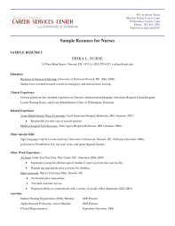 New Grad Nursing Resume Clinical Experience Fresh Sample Rn Resume