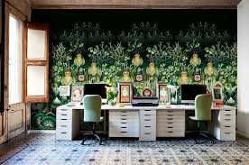 home office trends. plain trends wallpaper brings color and intrigue to the eclectic home office  design catalina estrada to home office trends t