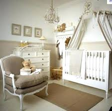 beautiful beige baby room ideas crystal chandelier white drawers this is so peaceful and classy for