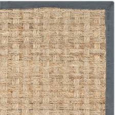 safavieh nf114c natural black and natural fiber power loomed sisal and seagrass