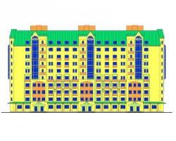 pgs diplom ru дипломные проекты по многоэтажным жилым домам  Проект №2 46 10 ти этажный жилой дом с встроенными помещениями в
