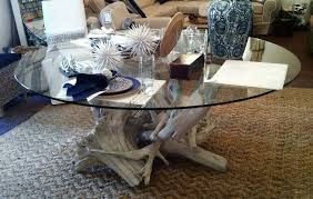 hampton driftwood dining table base for 72 round glass top glass not included