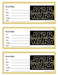 Star Wars Birthday Invitation Template Together With Star